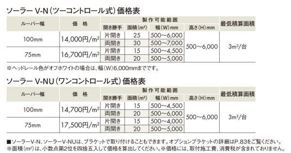 NBグラス価格表