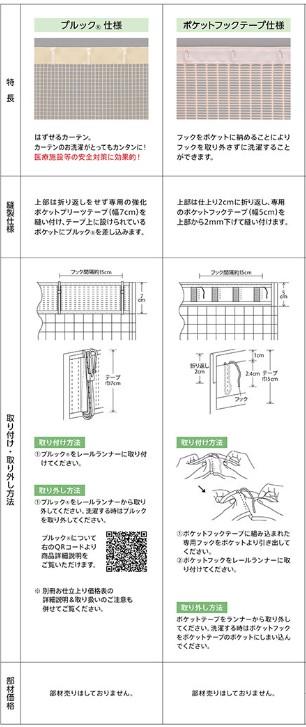 ネットカーテン上部の仕様1