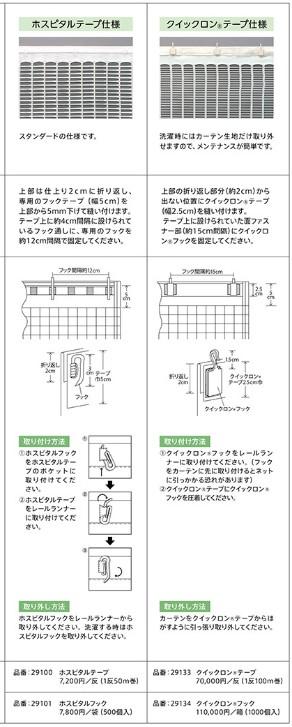 ネットカーテン上部の仕様2