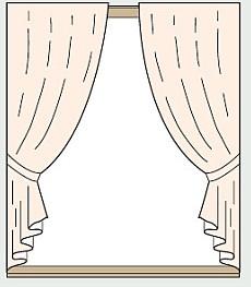 カーテン両開き