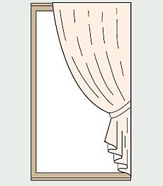 カーテン片開き右寄せ