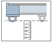 カーテンレールの高さの測り方