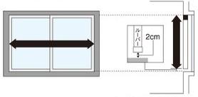 採寸方法アルペジオ窓枠内