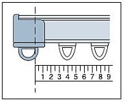 カーテンレールの幅の測り方